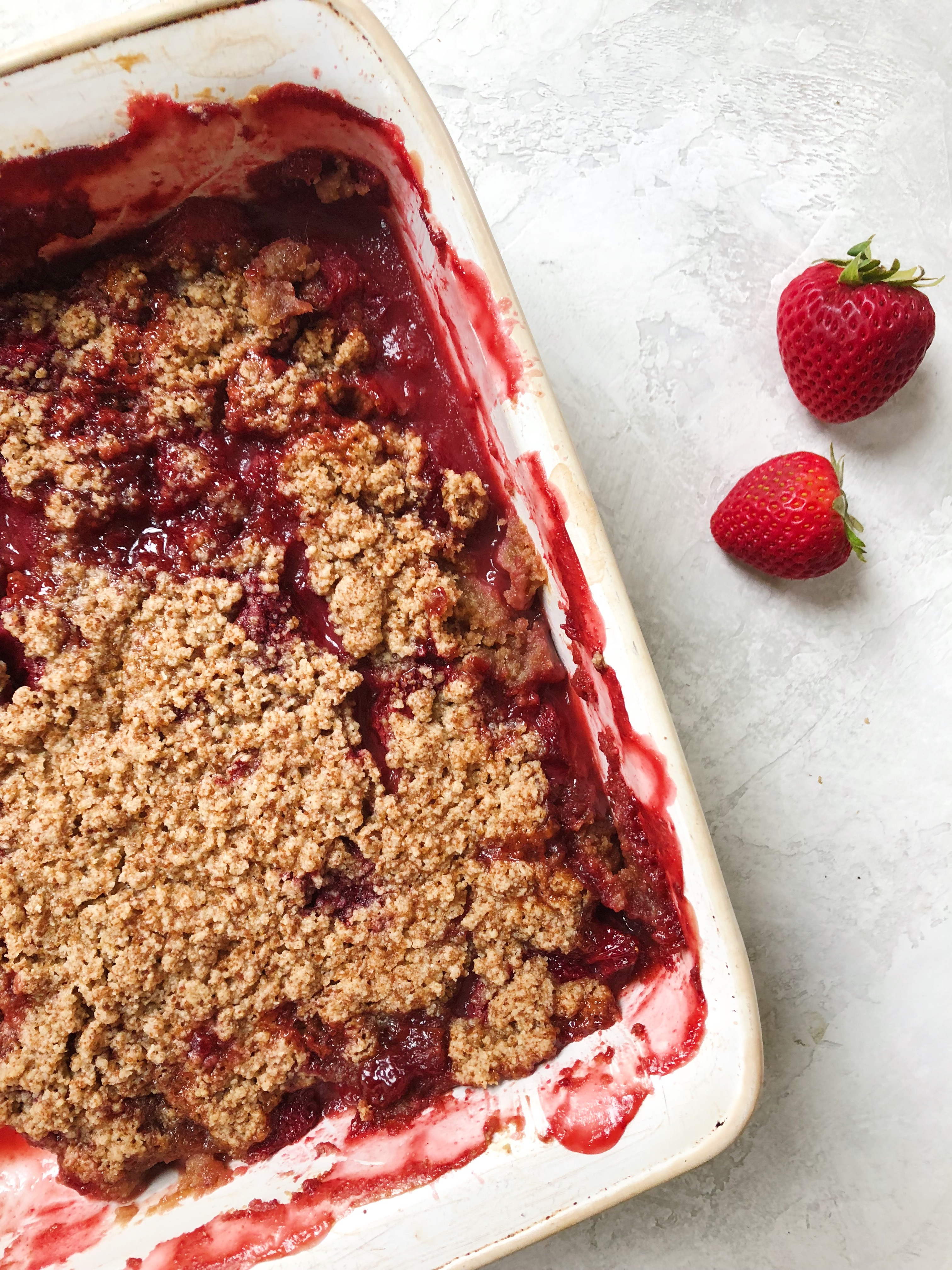 Rhubarb and Red Berry Crisp